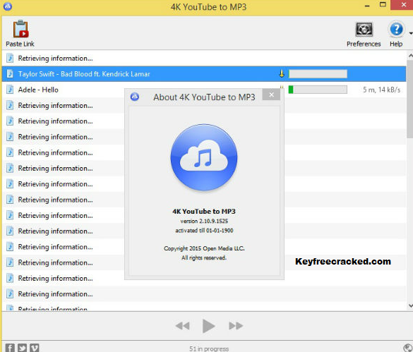 4K YouTube to MP3 Key